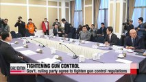 Gov't, ruling party agree to tighten gun control regulations in wake of twin shooting incidents