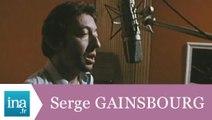 """Serge Gainsbourg enregistre """"Je suis venu te dire que je m'en vais"""" - Archive INA"""