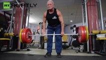 ¡Tiene 72 años y levanta hasta 200 kilos de peso!