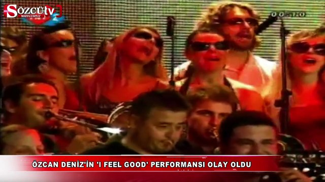 Özcan Deniz'in 'I feel good' performansı sosyal medyanın diline düştü