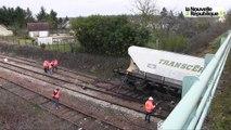 VIDEO. Vendôme. Un train déraille : deux wagons renversés