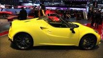 Salon Genève 2015 : l'Alfa Romeo 4C Spider en vidéo