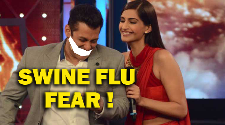 Why Salman Khan afraid of swine flu ?