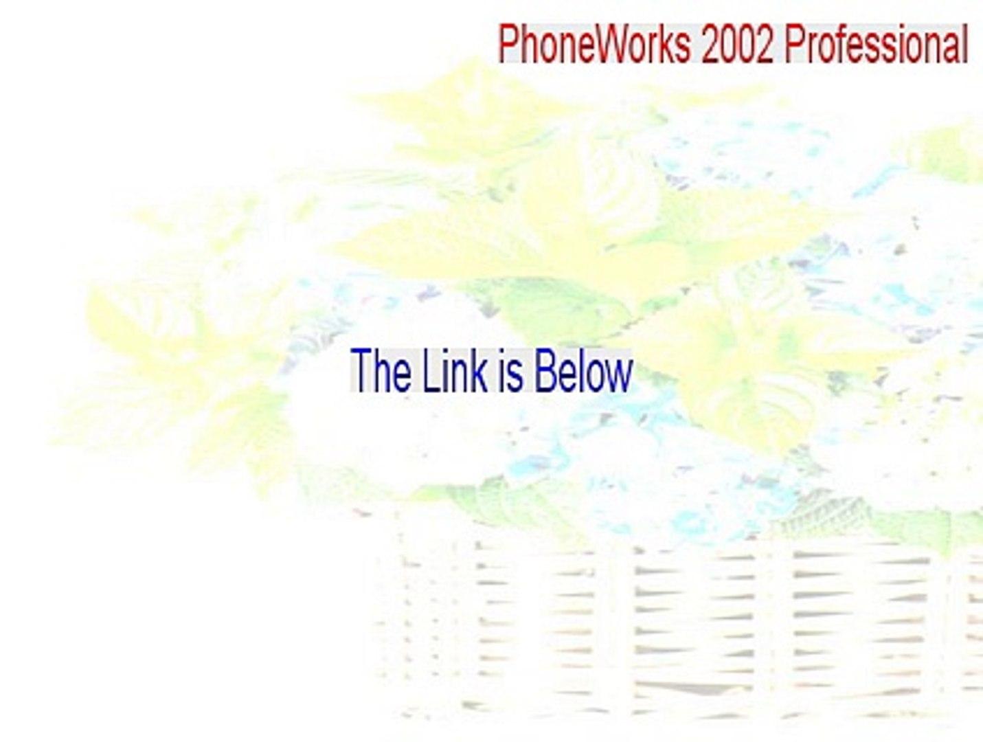 PhoneWorks 2002 Professional Full Download [PhoneWorks 2002 Professionalphoneworks 2002 professional]
