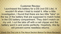Nintendo DS (NDS) replacement battery Review