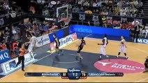 Bagarre générale en plein match de basket-ball avec une fin inattendu : un gros bisou!