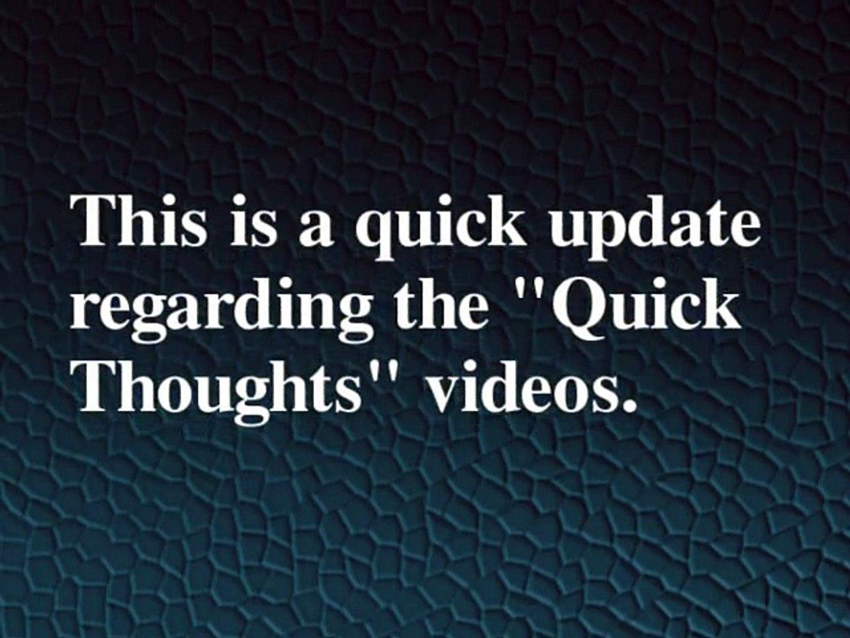 Quick Updates!