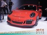 Porsche GT3 RS en direct du salon de Genève 2015