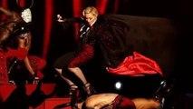 Madonna Satanic Fall Down Brit Awards 2015-Illuminati Brits Award