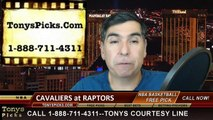 Toronto Raptors vs. Cleveland Cavaliers Free Pick Prediction NBA Pro Basketball Odds Preview 3-4-2015