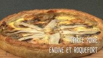 Recette de tarte aux poires, endive et roquefort - Gourmand