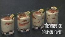 Recette originale : les tiramisus au saumon - Gourmand