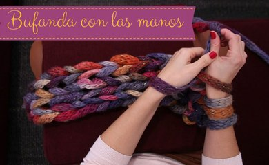 DIY: Cómo hacer una bufanda o un cuello con las manos | María G. Lomas