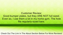 Body-Solid Black Rubber Grip Olympic Plates - 5 lb pair Review
