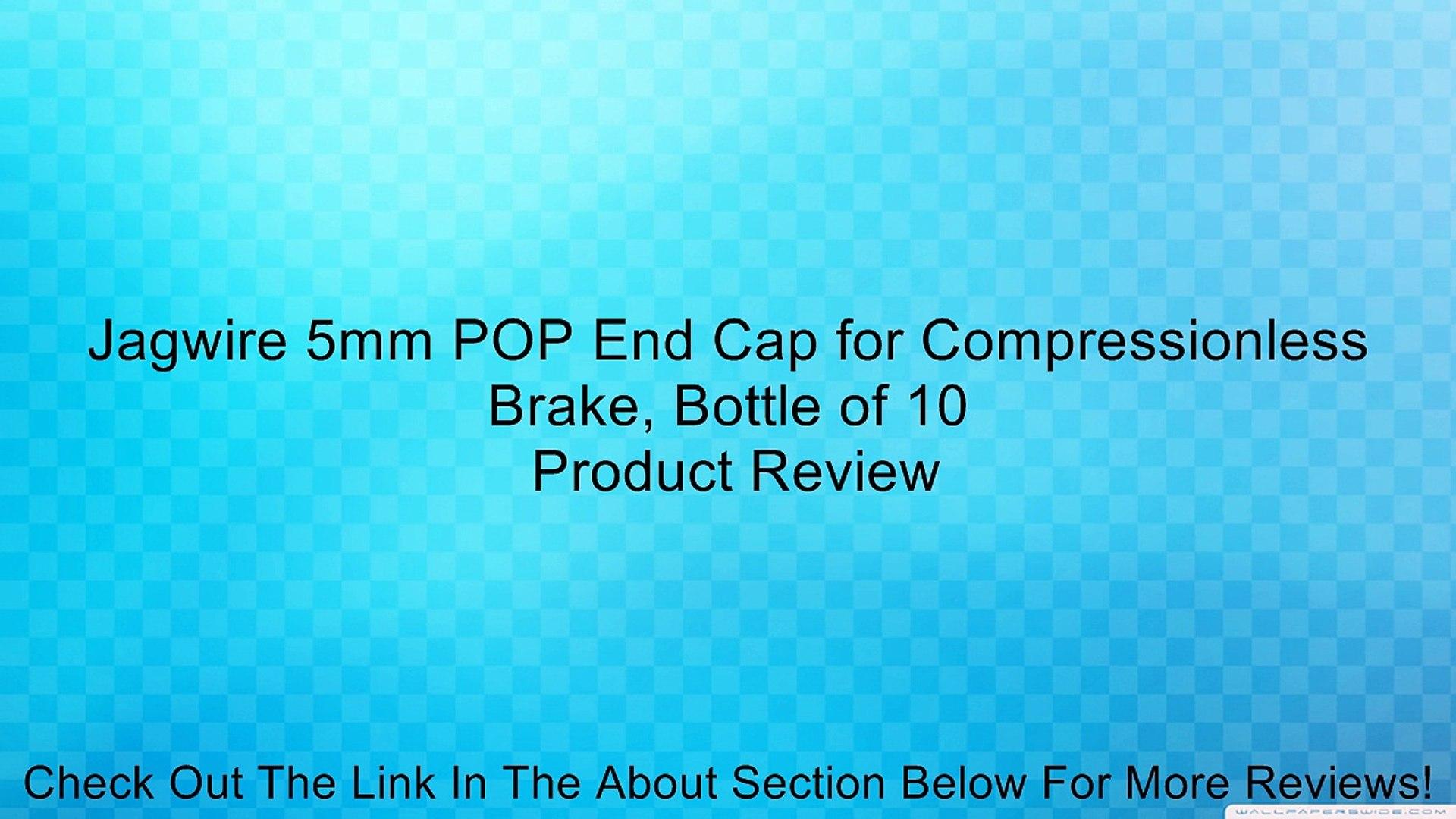 Black Jagwire 5mm POP End Cap for Compressionless Brake Housing Bottle of 10