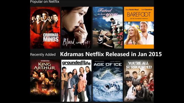 Korean Dramas Release on Netflix in January 2015 List