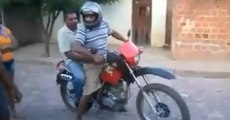 Two Drunk Guys In A Motorcycle Always A Great Idea.