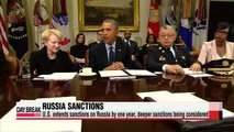 U.S. extends sanctions on Russia by one year, deeper sanctions being considered