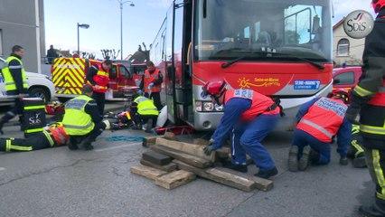 Accident de circulation bus - piéton à Pontault-Combault