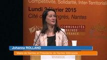 """""""Demain les métropoles"""" à Nantes - Le discours de Johanna Rolland, Maire de Nantes, Présidente de Nantes Métropole."""