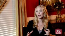 On the set with The Vampire Diaries: Candice Accola