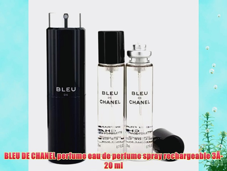 eeb63948 BLEU DE CHANEL perfume eau de perfume spray rechargeable 3?-20 ml