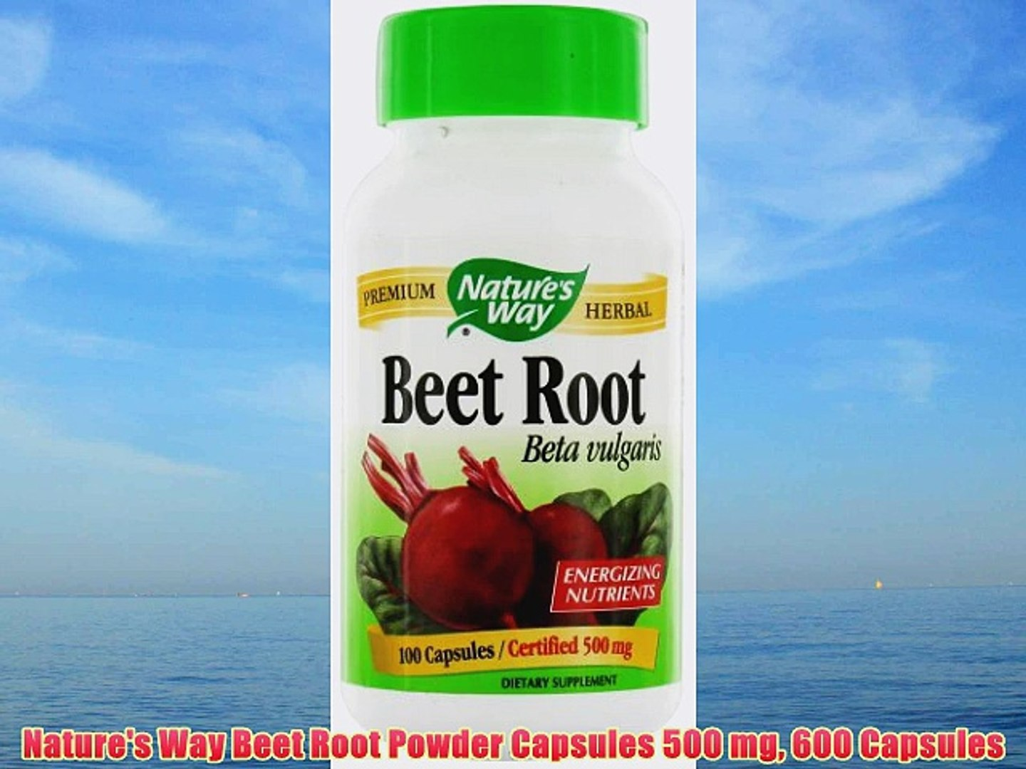 Nature's Way Beet Root Powder Capsules 500 mg 600 Capsules