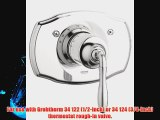 Grohe 19 614 EN0 Seabury Thermostatic Valve Trim with Cross Handle Infinity Brushed Nickel