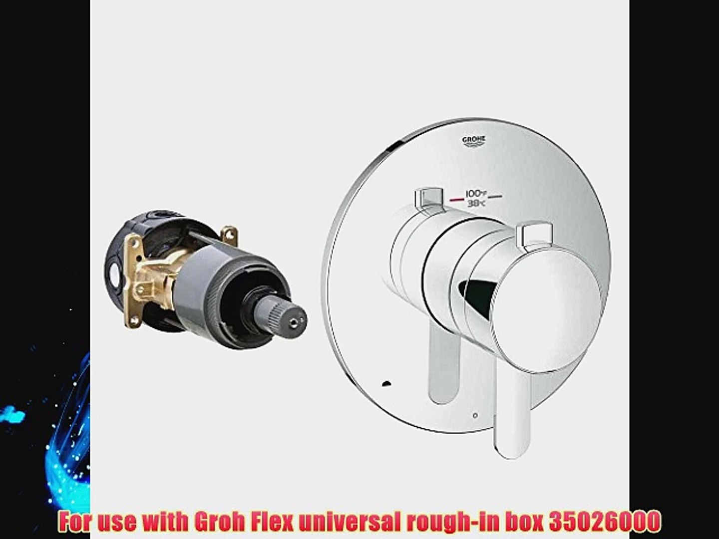 Grohe 19878000 Cosmopolitan 1-Handle GrohFlex Universal Rough-In Box Dual  Function Thermostatic - video dailymotion