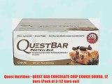 Quest Nutrition - QUEST BAR CHOCOLATE CHIP COOKIE DOUGH 12 bars (Pack of 3 (12 bars ea))