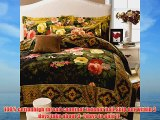 Lt Queen King Size 100% Cotton Thickening Sanded Soft 4-pieces Yellow Pink Red Small Flowers