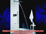 Stainless Steel Shower Set  Dual Action Shower Head Hand Shower and Tub Filler Spout