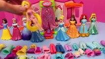 DisneyCarToys Frozen Elsa Kids Toys Disney Princess Magic Clip Dolls Polly Pocket Dress Up Dolls