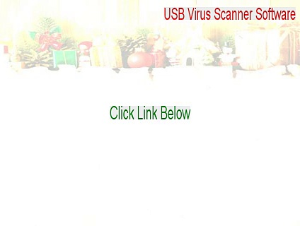 USB Virus Scanner Software Serial [Download Here 2015]
