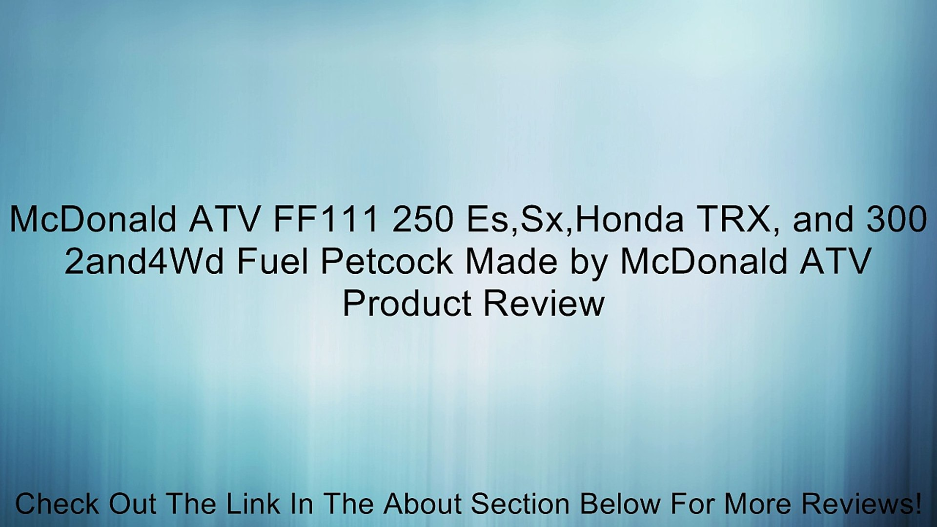 Gas Fuel Valve Petcock Switch Honda TRX300 Fourtrax TRX 300 Quad ATV 1992-1996