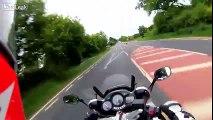 97 MPH Hard-Hitting Footage of Motorcycle Death on A47 - Helmet Cam POV Crash