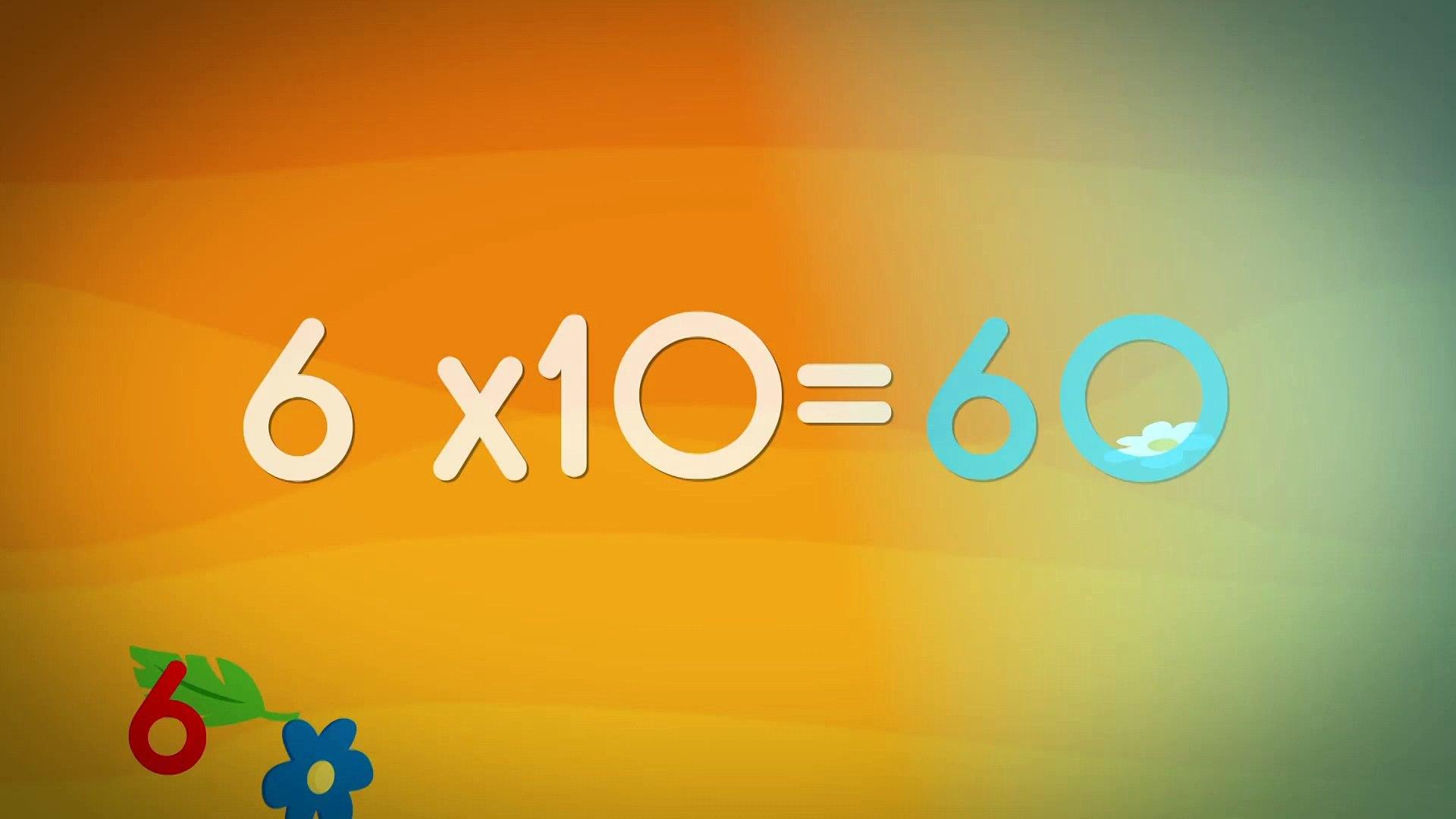 Comptines pour enfants - La Table de 10 (apprendre les tables de  multiplication)