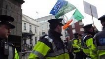 Enda Kenny Doesn`t need protection (Just giant size Glowsticks)