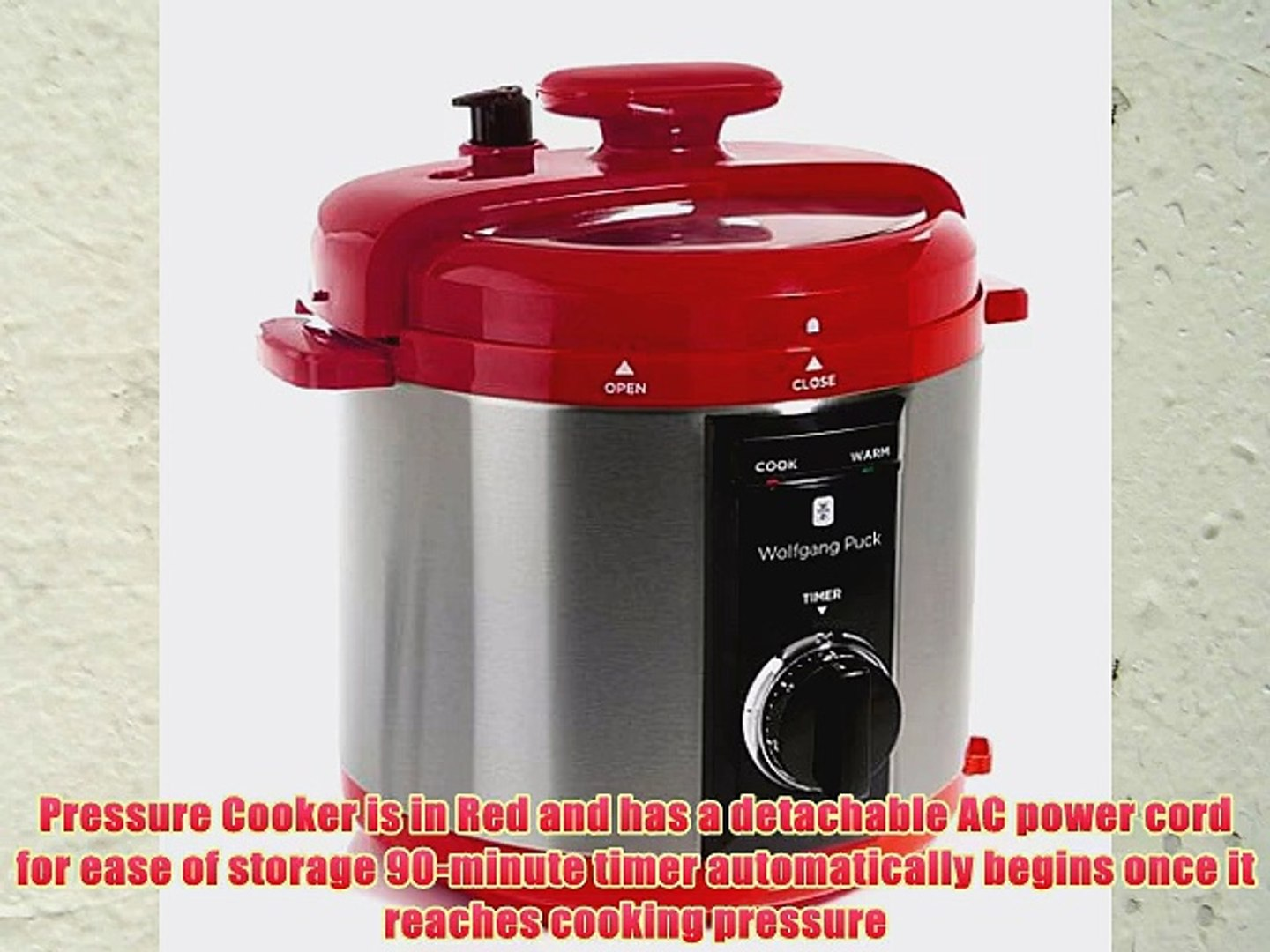 Wolfgang Puck Automatic 8 Quart Rapid Pressure Cooker Red Video Dailymotion