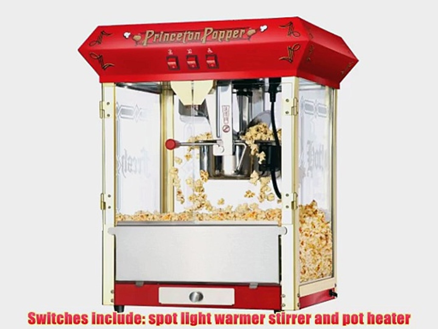 Great Northern Popcorn Red Princeton 8 Oz Ounce Bar Style Antique Popcorn Machine Video Dailymotion