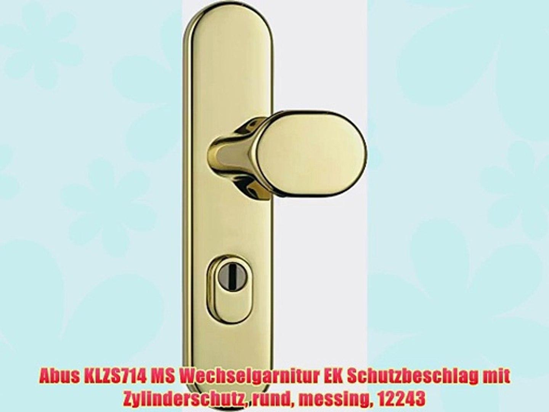 ABUS T/ür-Schutzbeschlag KLZS714 MS messing mit Zylinderschutz rund 12243