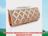 ANDI ROSE Luxury PU Leather Rhinestones Clutch Evening Shoulder Bags Purses Handbags (Gold)