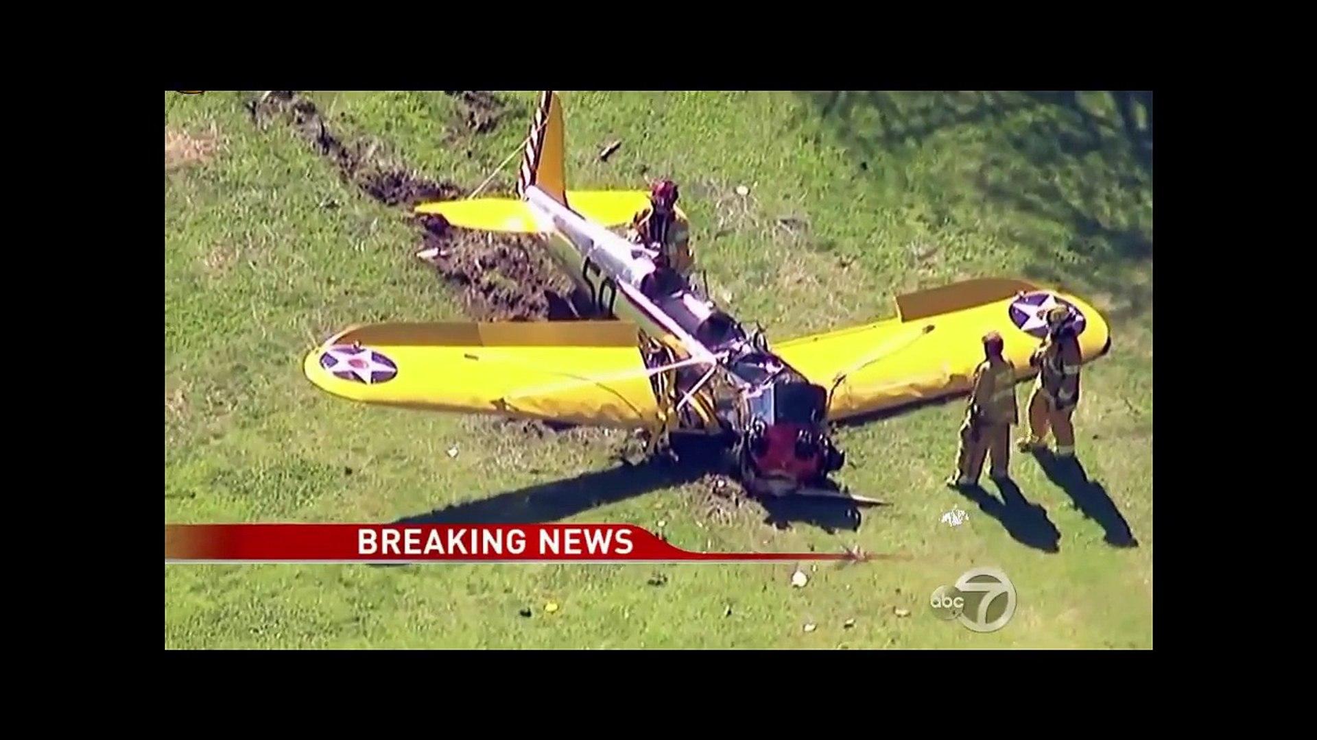 Harrison Ford Plane Crash Into L.A. Golf Course. Harrison Ford Critical Condition