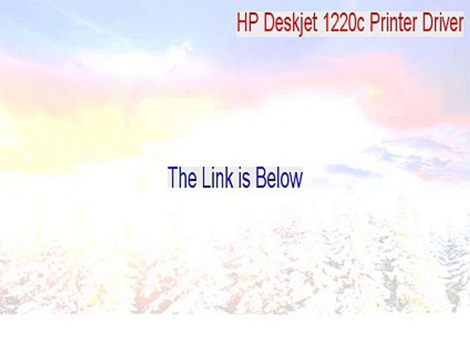 hp deskjet 1220c driver for windows 7 free download