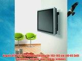 Vogels VFW 165 TV-Wandhalterung f?r 103-165 cm (40-65 Zoll) Fernseher neigbar max. 100 kg schwarz