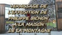 PAU - 5 MARS  2015 - VERNISSAGE DE L'EXPOSITION DE PHILIPPE BICHON À LA MAISON DE LA MONTAGNE