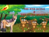 Jataka Tales - The Wise Jackal & The Stupid Monkeys - Short Stories for Children - Cartoons