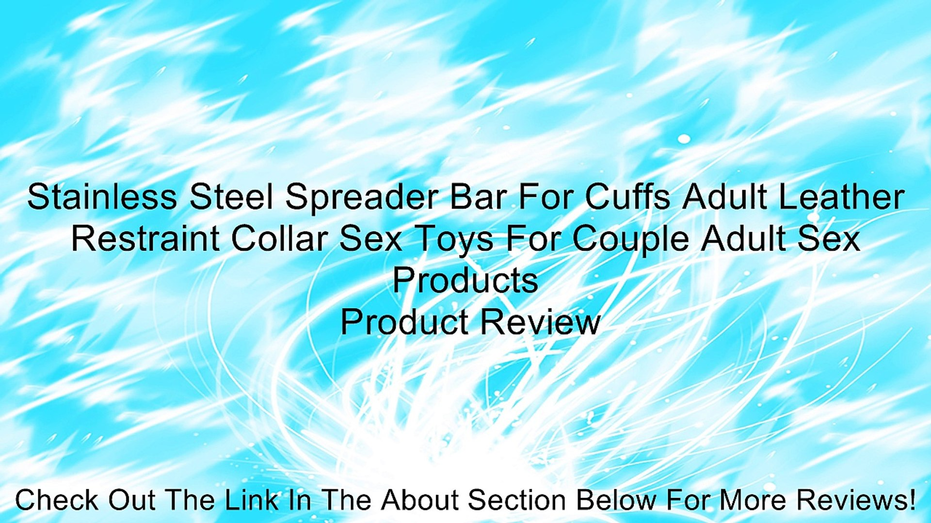 Stainless Steel Spreader Bar For Cuffs Adult Leather Restraint Collar Sex Toys For Couple Adult Sex
