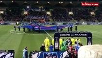 Coupe de France. US Concarneau-EA Guingamp : les joueurs entrent sur le terrain