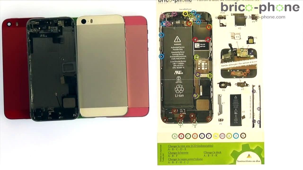 Tuto : iPhone 5S changement de la coque arrière complète en aluminium Démontage remontage HD